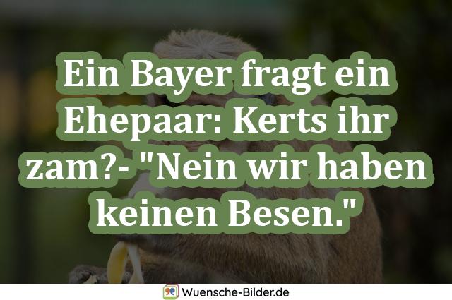 Ein Bayer fragt ein Ehepaar