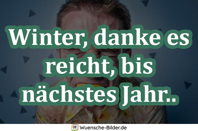 Winter, danke es reicht, bis