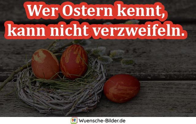 Wer Ostern kennt, kann nicht