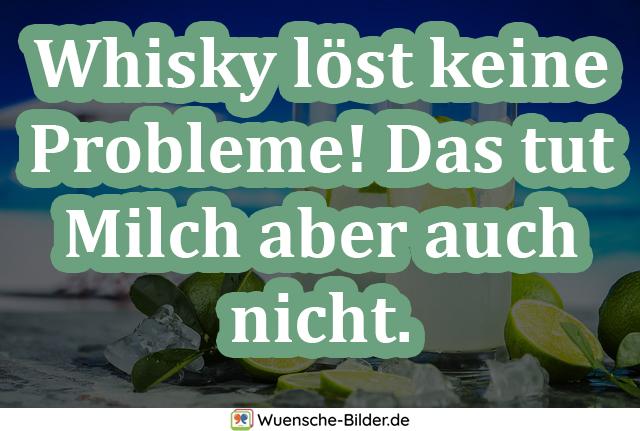 Whisky löst keine Probleme! Das