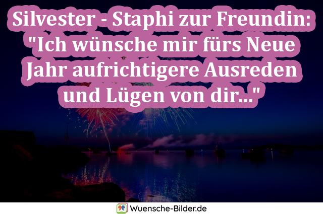 """Silvester – Staphi zur Freundin: """"Ich"""