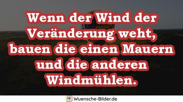Wenn der Wind der Veränderung