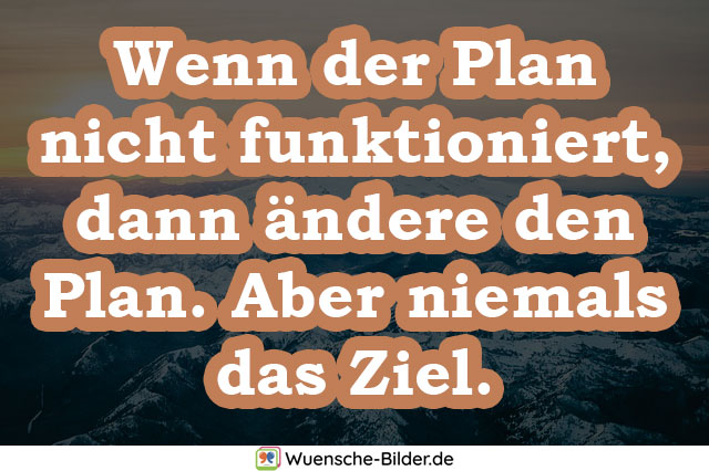 Wenn der Plan nicht funktioniert