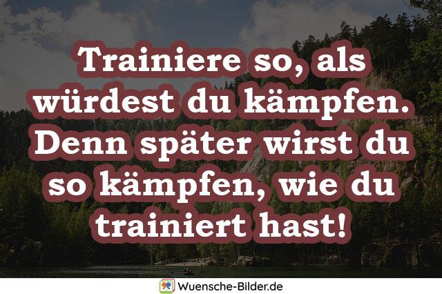 Trainiere so, als würdest du