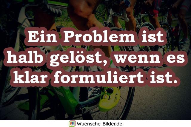 Ein Problem ist halb gelöst