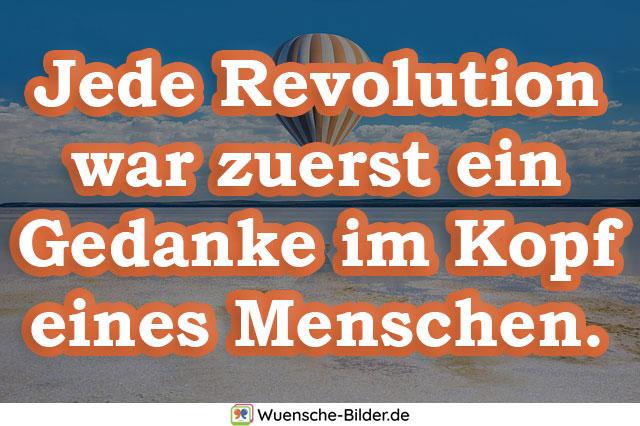 Jede Revolution war zuerst ein