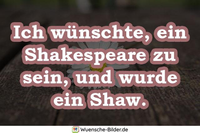 Ich wünschte, ein Shakespeare zu