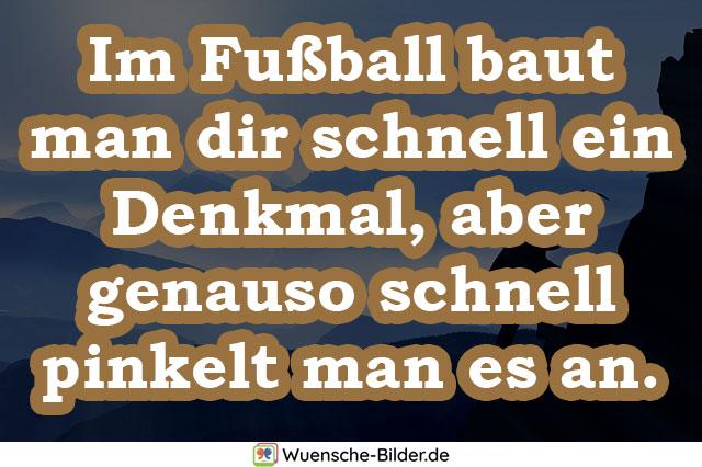 Im Fußball baut man dir