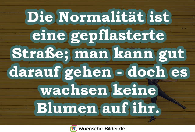 Die Normalität ist eine gepflasterte