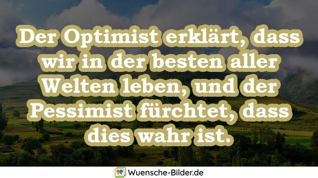 Der Optimist erklärt, dass wir