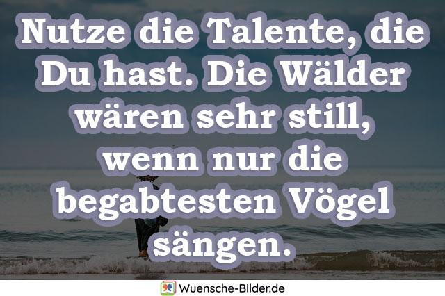 Nutze die Talente, die Du