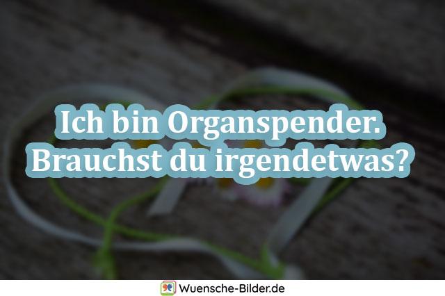 Ich bin Organspender. Brauchst du