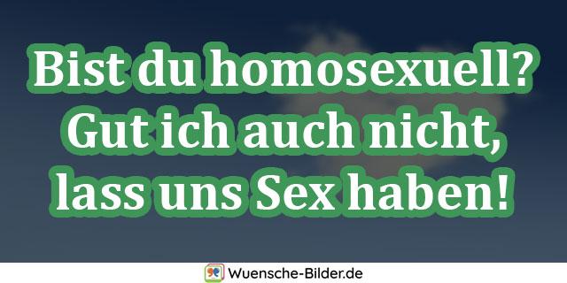 Bist du homosexuell? Gut ich