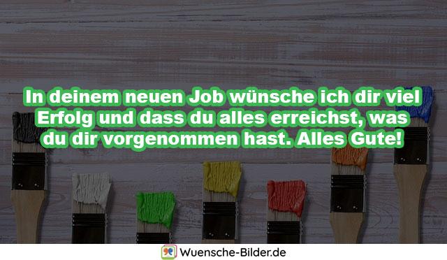 In deinem neuen Job wünsche