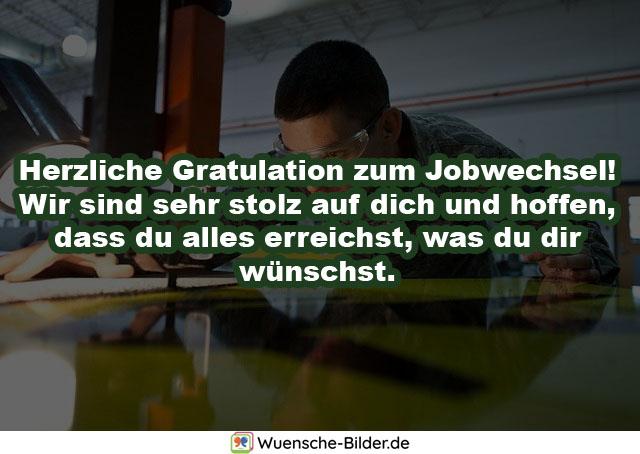 Herzliche Gratulation zum Jobwechsel! Wir