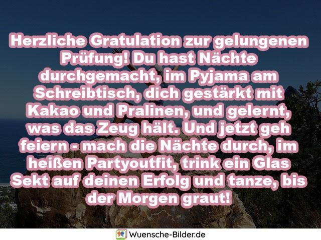 Herzliche Gratulation zur gelungenen Prüfung!