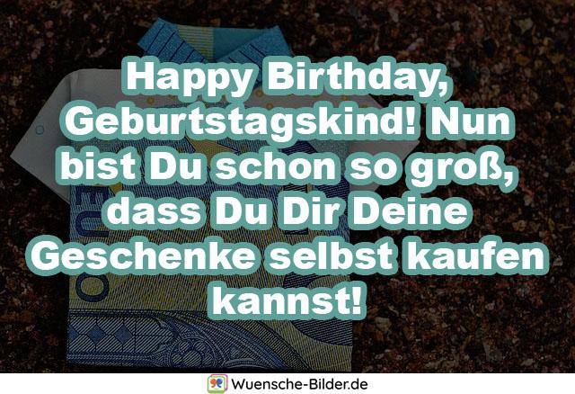 Happy Birthday, Geburtstagskind! Nun bist