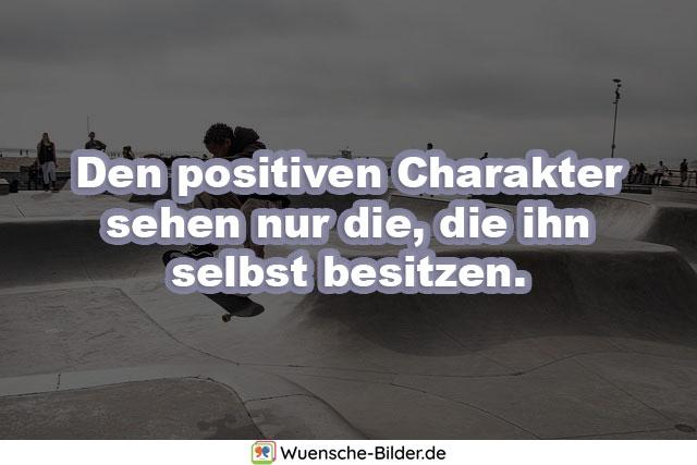 Den positiven Charakter sehen nur