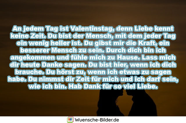 An jedem Tag ist Valentinstag