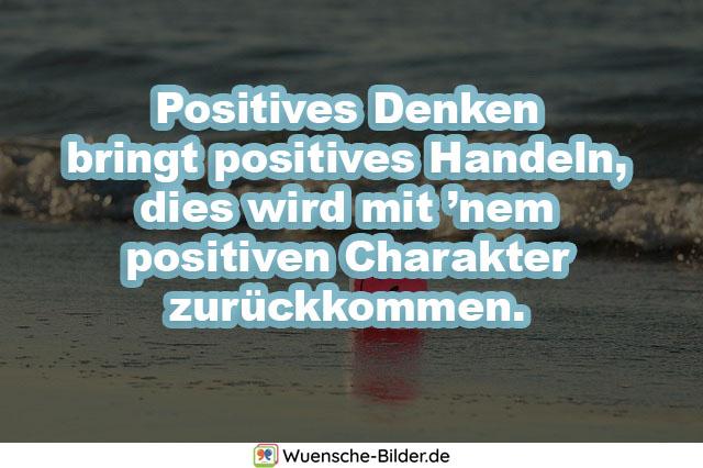 Positives Denken bringt positives Handeln